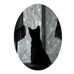 Kitten in Window Oval Ornament