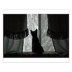 Kitten in Window Small Poster