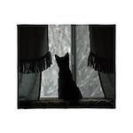 Kitten in Window Throw Blanket