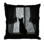 Kitten in Window Throw Pillow