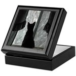 Kitten in Window Keepsake Box