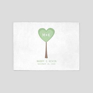 Monogram Heart Tree 5'x7'Area Rug