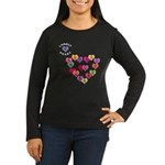 LONELY HEART Women's Long Sleeve Dark T-Shirt