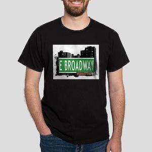 E BROADWAY, MANHATTAN, NYC Dark T-Shirt