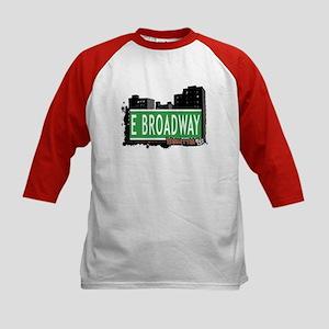 E BROADWAY, MANHATTAN, NYC Kids Baseball Jersey
