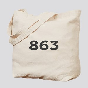 863 Area Code Tote Bag