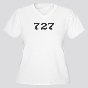 727 Area Code Women's Plus Size V-Neck T-Shirt