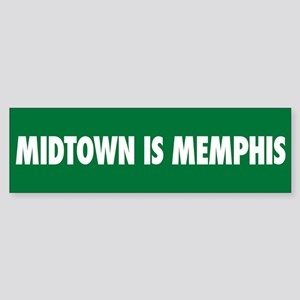 Midtown is Memphis Bumper Sticker