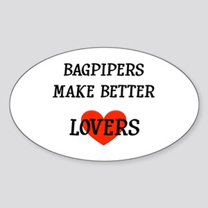 Bagpipe Gift Oval Sticker