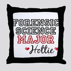 Forensic Science Major Hottie Throw Pillow
