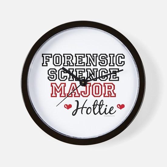 Forensic Science Major Hottie Wall Clock