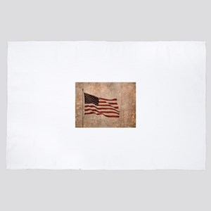 Patriot's Vintage American Flag 4' x 6' Rug