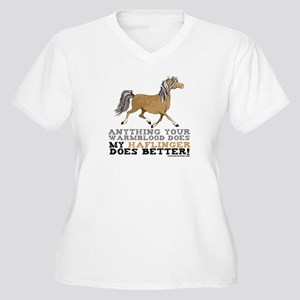 Haflinger Horse Women's Plus Size V-Neck T-Shirt