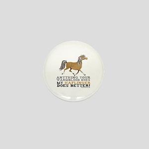 Haflinger Horse Mini Button