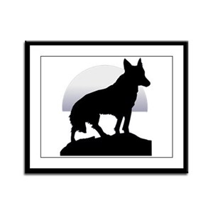 Shadow on the Moon Framed Panel Print