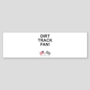 Dirt Track Fan Bumper Sticker