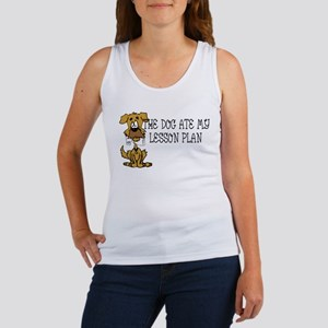 My Dog Ate My Lesson Plan Women's Tank Top