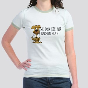 My Dog Ate My Lesson Plan Jr. Ringer T-Shirt