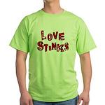 Love Stinks Green T-Shirt