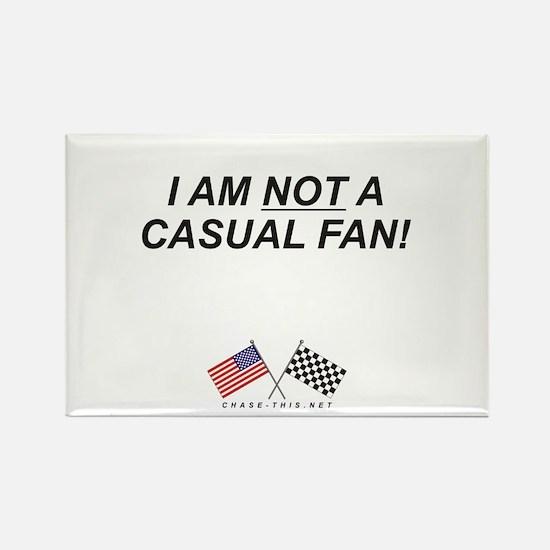 NOT Casual Fan Rectangle Magnet