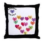 LONELY HEART Throw Pillow