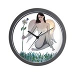 White Winged Fairy Wall Clock