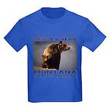 Grizzly bear Kids T-shirts (Dark)