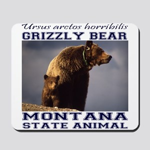 Grizzly - Montana State Animal Mousepad