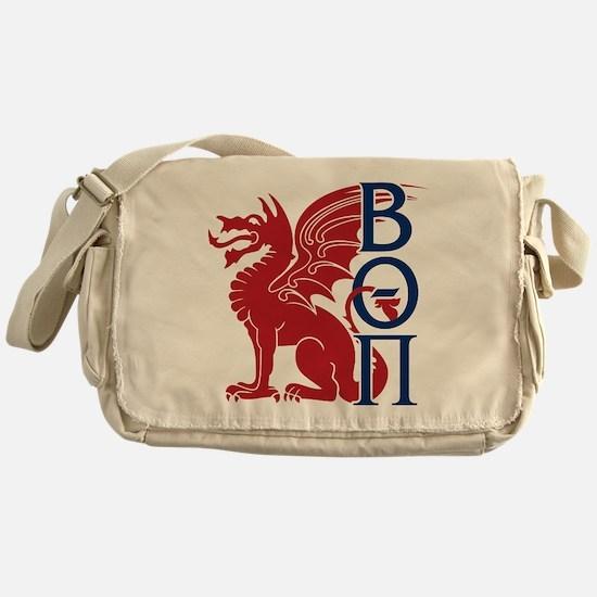 Beta Theta Pi Dragon Letters Messenger Bag