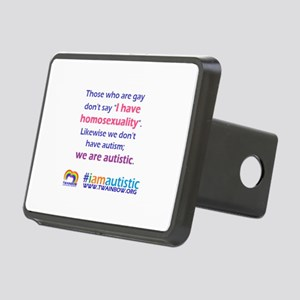 I AM AUTISTIC Rectangular Hitch Cover
