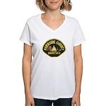 Riverside Sheriff K9 Women's V-Neck T-Shirt
