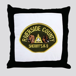 Riverside Sheriff K9 Throw Pillow