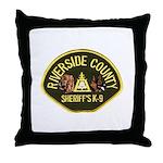 Riverside Sheriff K9 Throw Pillow