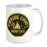 Riverside Sheriff K9 Large Mug