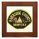 Riverside Sheriff K9 Framed Tile