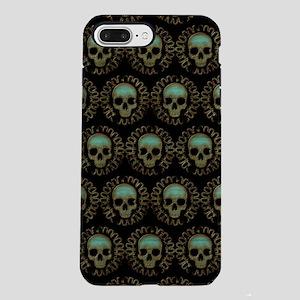 Turquoise Skulls Patter iPhone 8/7 Plus Tough Case