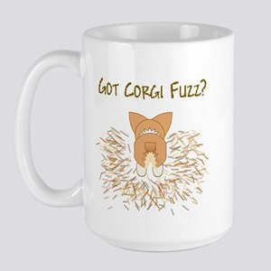 Lt Red White Pem Got Fuzz? Large Mug