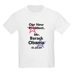 President Barack Obama Inauguration Kids Light Tee