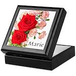 Personalized Rose Keepsake Box