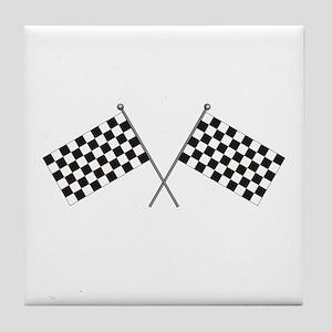 Checkered Flag Tile Coaster