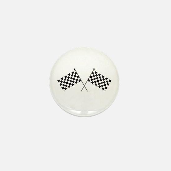 Checkered Flag Mini Button