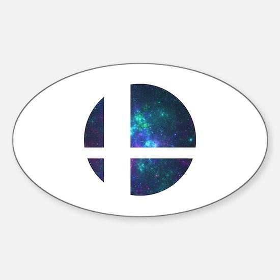 Cute Super smash bros Sticker (Oval)