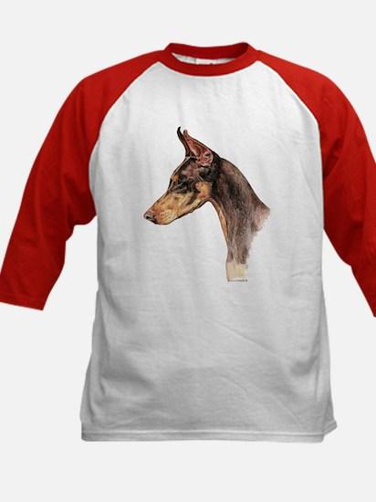 Doberman Pinscher, Dobie dog Kids Baseball Jersey