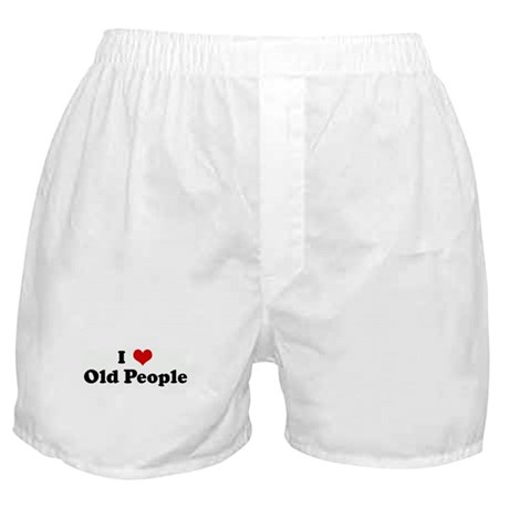 I Love Old People Boxer Shorts