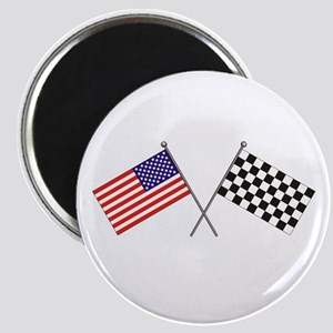American-Checker Flag Magnet