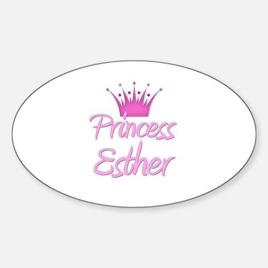 Princess Esther Oval Decal
