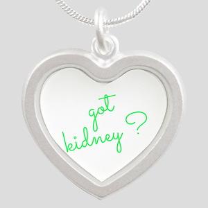 Got Kidney? Silver Heart Necklace