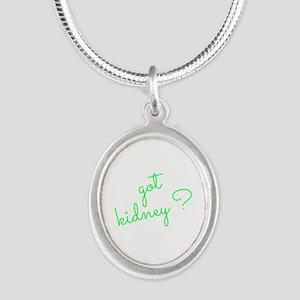 Got Kidney? Silver Oval Necklace