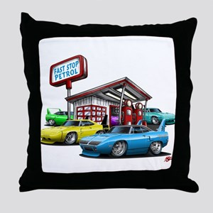 Superbird Gas station scene Throw Pillow