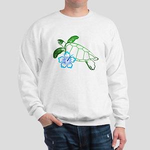 Sea Turtle Hibiscus Blue Sweatshirt
